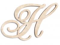 Деревянная буква Н