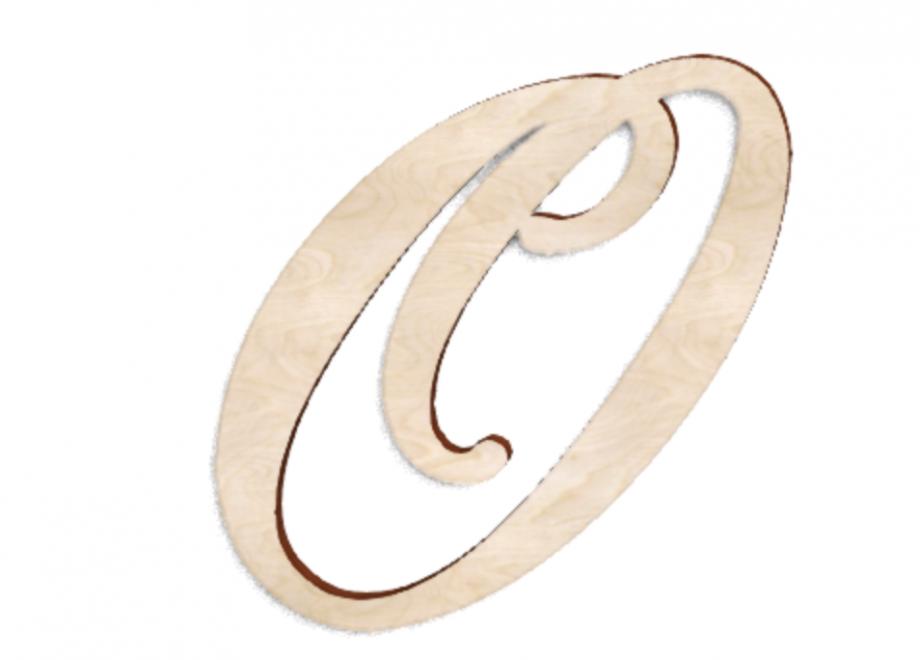 Деревянная буква О