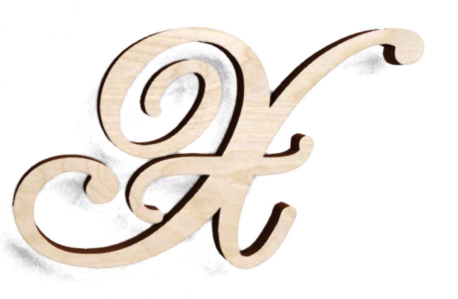 Деревянная буква Х