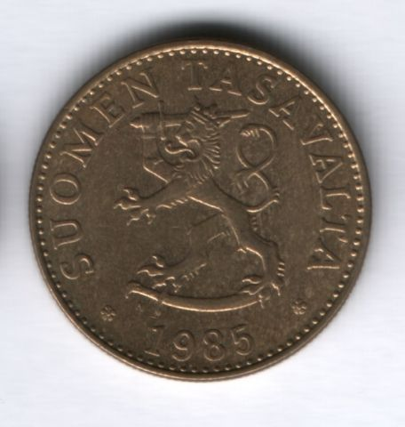 50 пенни 1985 года Финляндия