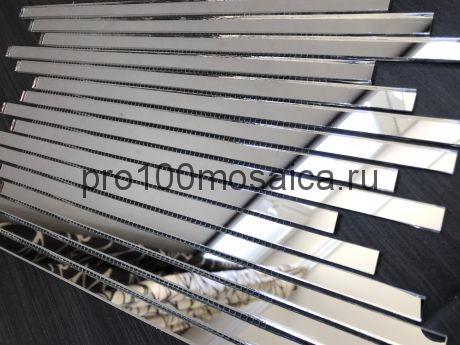 S300-2 Серебряное зеркало. Мозаика зеркальная серия VANTAGGIO, 350*190*4 мм (VIVERE)