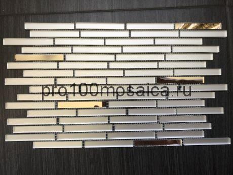 MS74 Серебряное зеркало+MAT. Мозаика зеркальная серия VANTAGGIO, 347*190*4 мм (VIVERE)