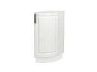 Шкаф нижний торцевой радиусный Прага НТ300S в цвете Белое дерево