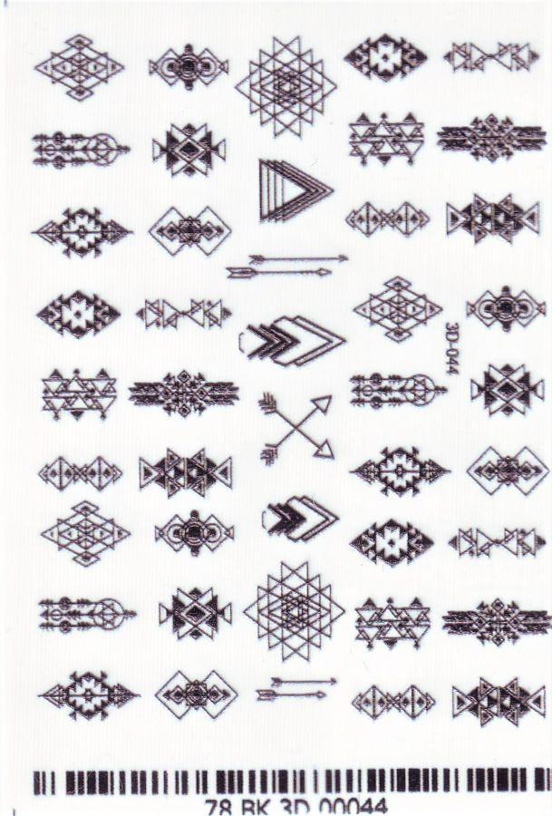 3D Слайдер-дизайн 3D 044 геометрия