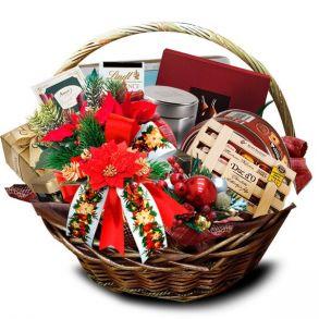 Подарочная корзина Пуансетия