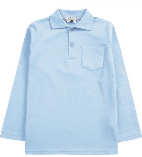"""Рубашка-поло для мальчика 7-11 лет. Bonito """"Casual"""" голубая"""