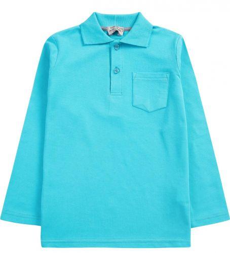 """Рубашка-поло для мальчика 7-11 лет. Bonito """"Casual"""" бирюзовая"""