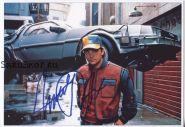 Автограф: Майкл Дж. Фокс. Назад в будущее