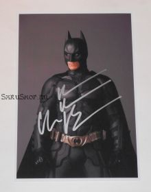 Автограф: Кристиан Бэйл. Темный рыцарь