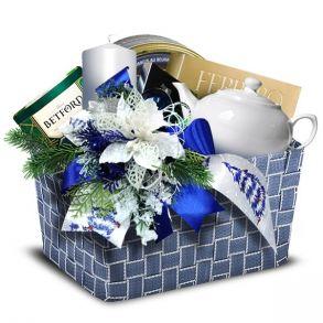 Подарочная корзина Деним Новый год