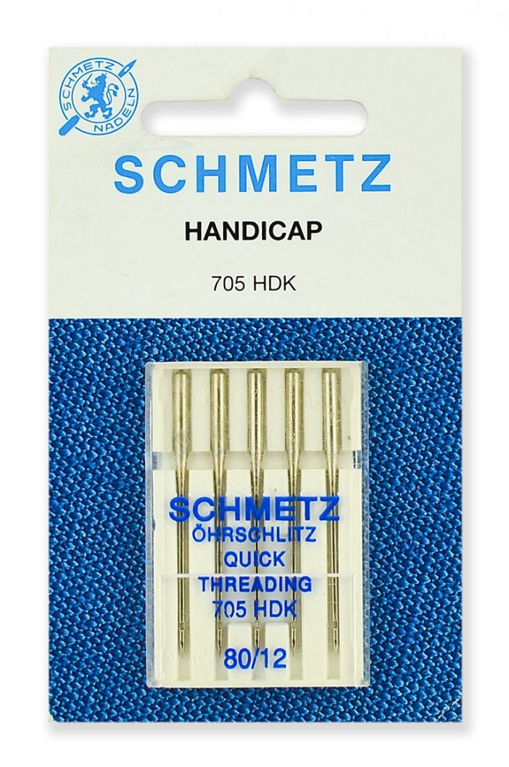 Иглы Schmetz легковдеваемые №80 (5шт.)