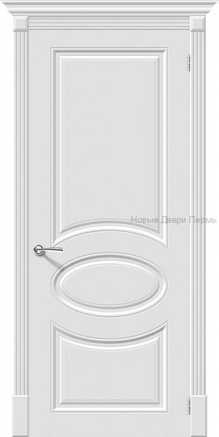 Скинни-20 Whitey  Дверь межкомнатная крашенная (Эмаль)
