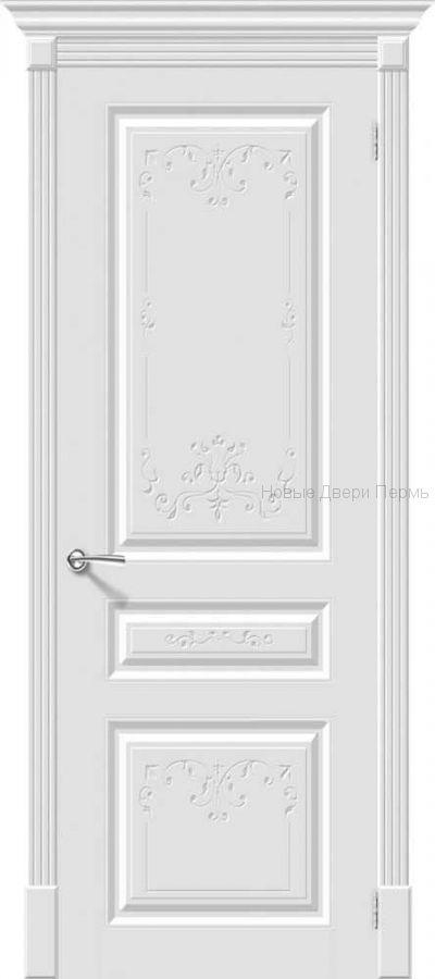 Скинни - 14 Art Whitey  Дверь межкомнатная крашенная (Эмаль)