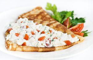 Блин с мягким сыром и помидором 140г