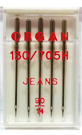 Иглы ORGAN джинс, №90 (5шт.)