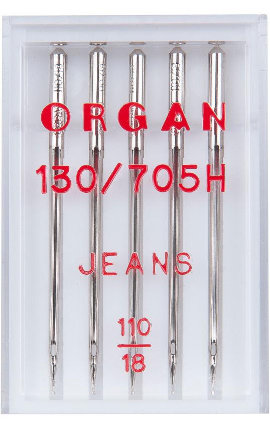 Иглы ORGAN джинс, №110 (5шт.)
