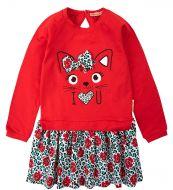"""Платье для девочек Bonito 2-6 лет """"Cat"""" красное"""