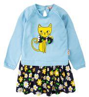 """Платье для девочек Bonito 2-6 лет """"Cat"""" голубое"""