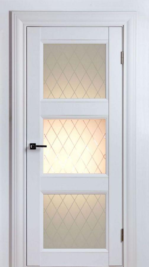 Дверной блок Classik 2S F3 Белый Шёлк