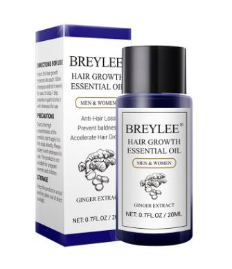 Эфирное масло для волос с экстрактом имбиря Breylee от Lanbena.(34364)