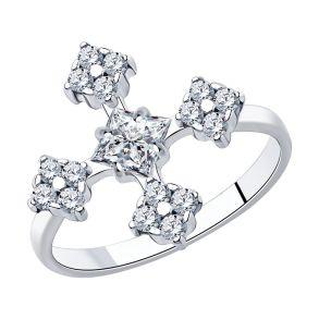 Кольцо из серебра с фианитами 94013048 SKLV