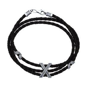 Браслет из чернёного серебра 95050005 SOKOLOV