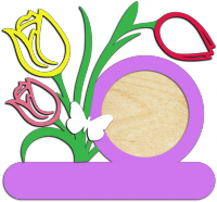 Фоторамка с 8 марта c тюльпанами