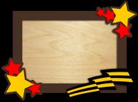 Фоторамка к 23 февраля подарочная прямоугольная со звездой