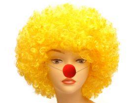 Парик клоуна желтый, афро
