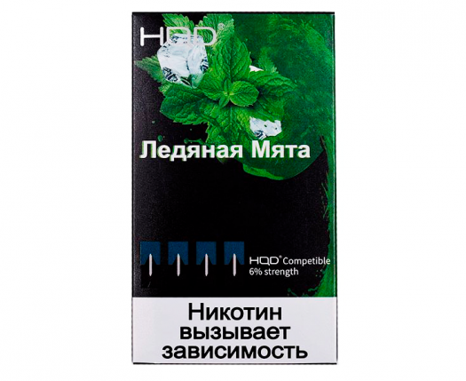Картриджи HQD Ледяная Мята (4 шт) 6%