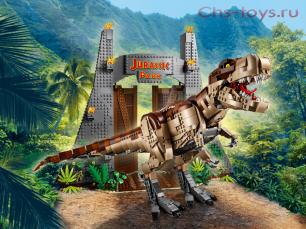 Конструктор Lari Динозавры Парк Юрского периода: ярость Ти-Рекса 11338 (75936) 3156 дет
