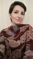 Теплый бордовый индийский палантин из шерсти, купить в Москве, интернет магазин