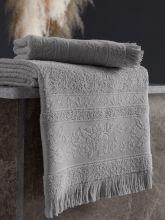 Полотенце махровое LORA (св.серое) 50*90 Арт.3416-3