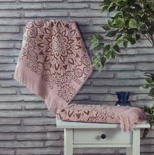 Полотенце махровое DURU 70*140 (гр.розовое) Арт.2166-10