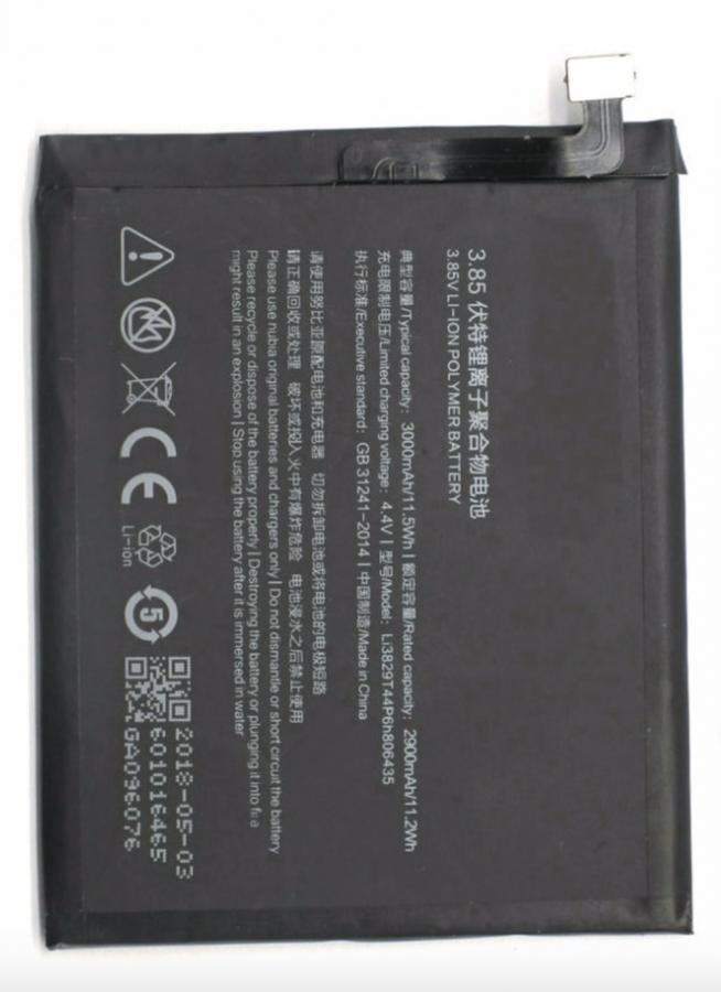 Аккумулятор ZTE Nubia Z11 NX531J (Li3829T44P6h806435) Оригинал