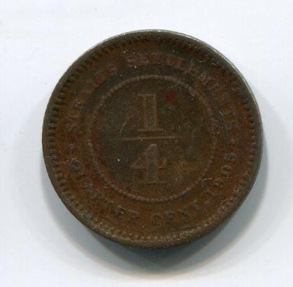 1/4 цента 1905 года Стрейтс Сетлментс