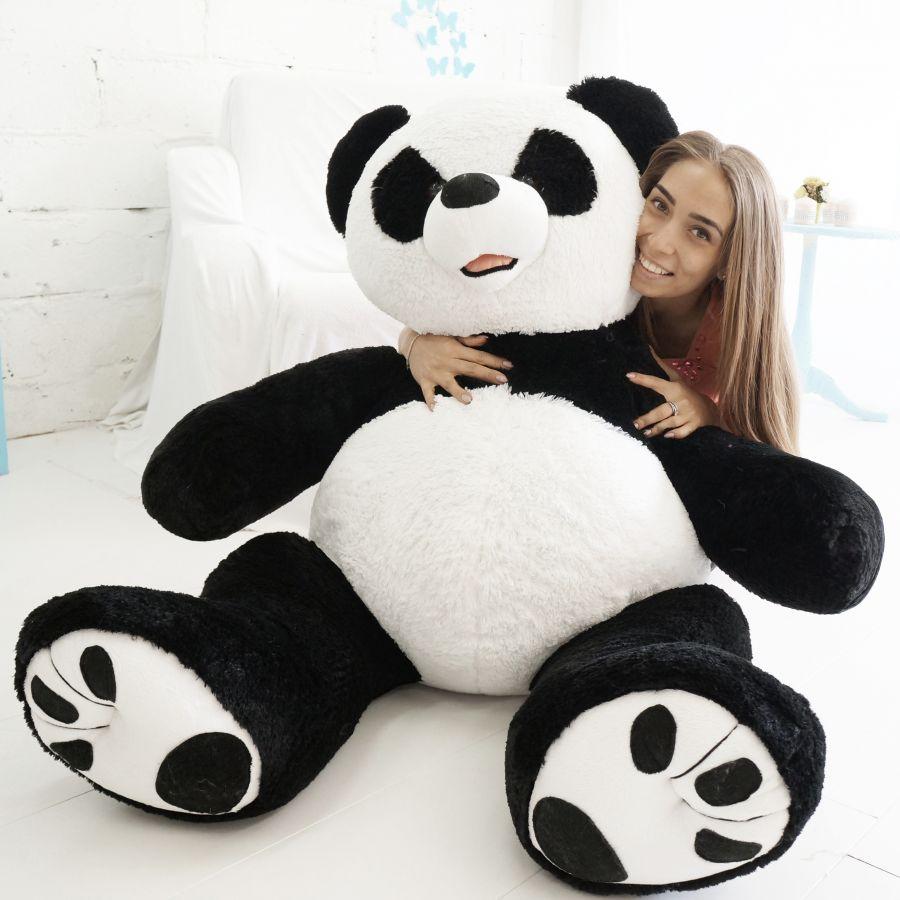 Мишка Патрик-панда (ОР-170см)(Д-140см) Черно-белый