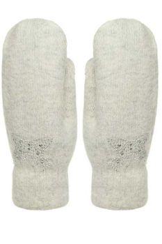 Варежки шерстяные с мехом для женщин №7612