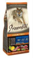 Primordial Grain Free Сухой корм для собак всех пород, с тунцом и ягненком 400г