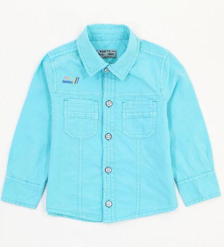 Рубашка для мальчиков 2-5 лет Bonito Jeans, бирюзовая