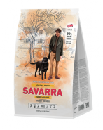 SAVARRA ADULT ALL BREEDS DOGS Сухой корм для собак всех пород с индейкой и рисом, 1 кг