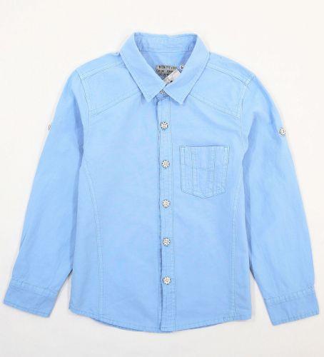 """Рубашка для мальчиков 7-10 лет Bonito Jeans """"Gool"""" голубая"""