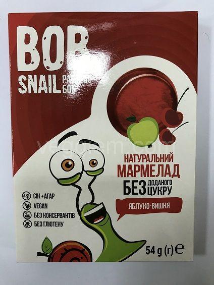 Мармелад яблоко-вишня без сахара , Bob Snail 54 грамма
