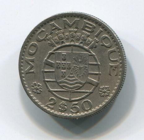 2,5 эскудо 1965 года Португальский Мозамбик