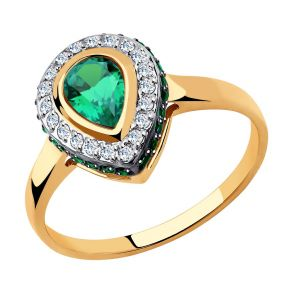 Кольцо из золота с фианитами 018479 SOKOLOV