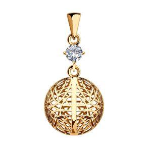 Подвеска из золота с фианитом 035764 SOKOLOV