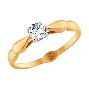 Кольцо из золота со Swarovski Zirconia 81010363 SOKOLOV