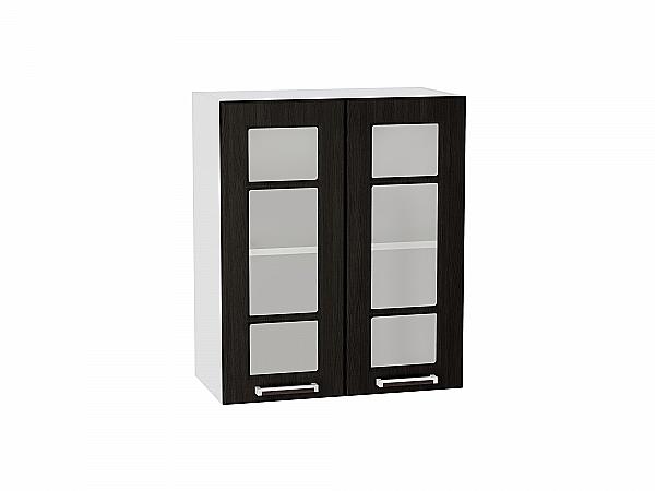 Шкаф верхний Прага В600 со стеклом (Венге Премиум)