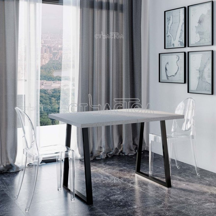 Loft Beton раздвижной обеденный стол в стиле лофт Програматика