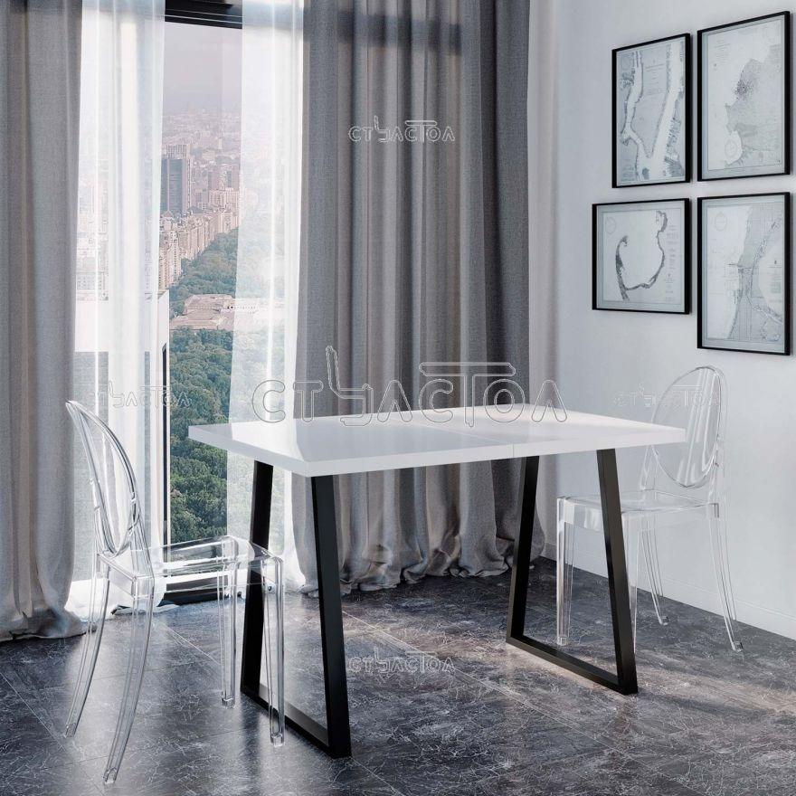 Loft/HG раздвижной белый стол в стиле хай-тек Програматика